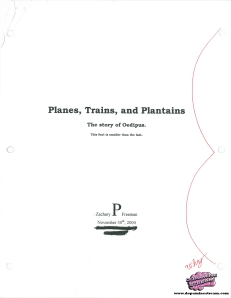 oedipus essay planes trains and plantains
